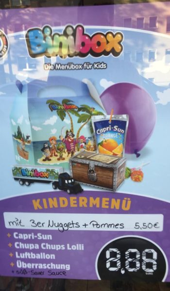 Binibox 3er Nuggets + Pommes 5,50€