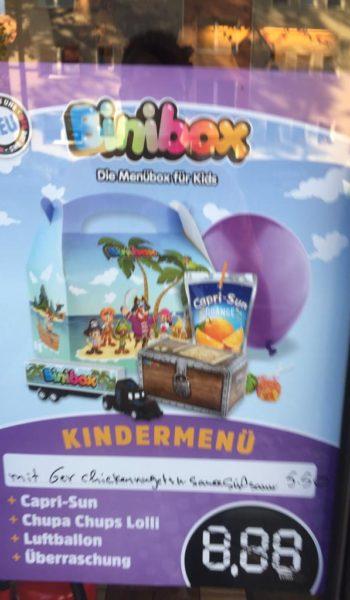 Binibox, 6er Nuggets + Süß Sauer Sauce 5,50 €